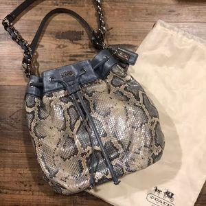 Coach Python Leather Marielle Bag